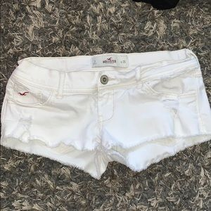 White denim Hollister shorts